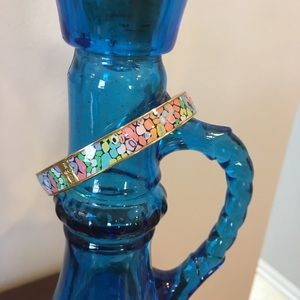 Lilly Pulitzer Floral & Gold Bangle